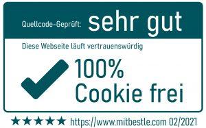 Cookie frei Qualitätssiegel 02/2021 mitbestle.com